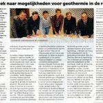 Onderzoek naar Geothermie in de regio